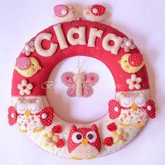 Atelier - Boutique D' Caroline: Foam Crafts, Baby Crafts, Diy And Crafts, Bear Felt, Felt Baby, Felt Wreath, Felt Garland, Boutique D Caroline, Sewing To Sell