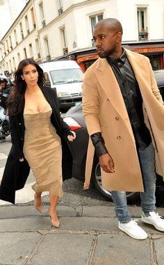 Kim Kardashian and Kanye West are Paris chic!