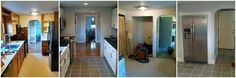 Before and After of a kitchen remodel  BPKELCO-Boston area