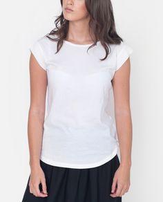 04e7cd83658c2 DORIS Organic Cotton And Linen Top In White