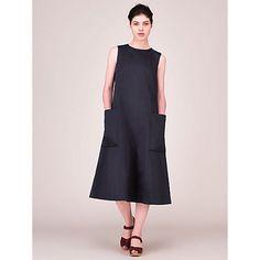 Buy Toast Cotton Sateen Dress, Midnight Online at johnlewis.com