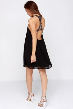 Lucca Couture Roman Candle Black Swing Dress at Lulus.com!