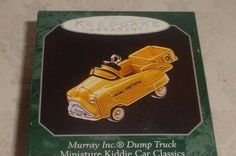"1998 HALLMARK KEEPSAKE ""MURRAY INC DUMP TRUCK"" MINIATURE PEDAL CAR ORNAMENT"