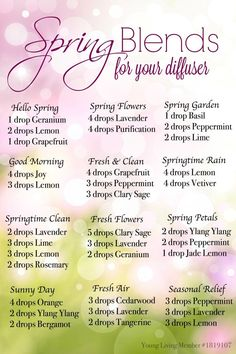 Spring Diffuser Recipes for Essential Oils #YLOils #theOilNation
