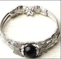Black Silver Tibet Butterfly Bracelet - FREE SHIPPING! $5.99