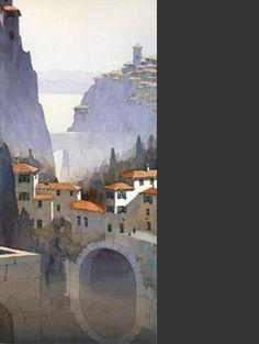 Architectural watercolor by Michael Reardon