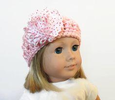 Light Pink Crochet Doll Hat 18 Inch Doll by PreciousBowtique, $5.00