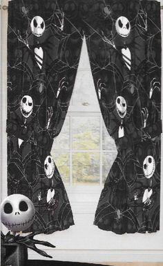 Original Nightmare Before Christmas Curtains/Drapes 4 ps set Window Panel Disney