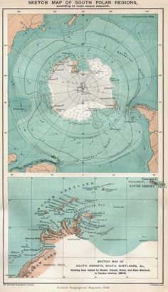 Old Map of Antarctica
