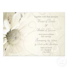 elegant wedding invitations | Beige Floral Elegant Wedding Invitation Cards from Zazzle.com