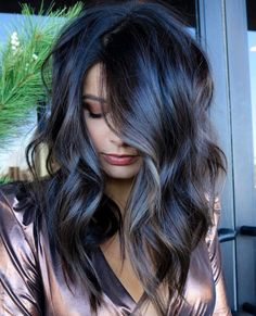 Balayage Brunette, Brunette Hair, Balayage Hair, Dark Brunette, Medium Hair Styles, Long Hair Styles, Hair Color And Cut, Great Hair, Gorgeous Hair