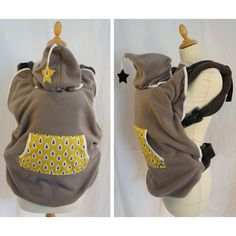 Acheter Cape de portage pour Bebe modele Taupe LunesEtLutins.com