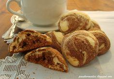 Pane, burro e alici: Biscotti per il latte morbidi variegati al cacao