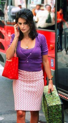 Penelope Cruz's bright colour blocking in Volver.