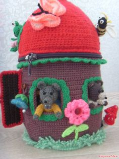 "Пальчиковый театр ""ТЕРЕМОК"" Crochet Fairy, Crochet Home, Crochet For Kids, Crochet Crafts, Fairy Houses, Home Crafts, Puppets, Keychains, Amigurumi"