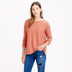 Collection cashmere textured-frame sweater - j crew