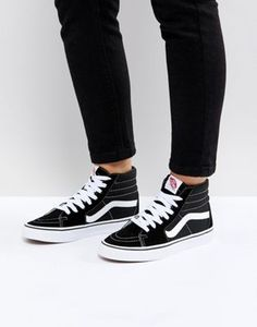 3d9b8ccdbf Vans Classic Sk8 Hi sneakers in black and white