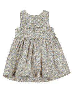 Blue Floral Pleated Dress, Liberty London Childrenswear. Shop more baby dresses from the Liberty London Childrenswear collection online at Liberty.co.uk