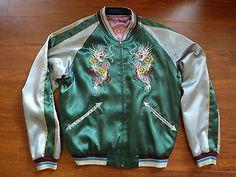 Buzz Rickson Toyo Reversible Souvenir Jacket 11th Airborne Hells Angels Large #souvenir #jacket