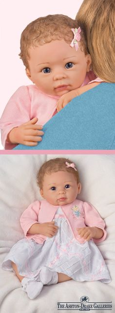 Sculpted by award-winning doll artist Linda Murray, this lifelike So Truly Real® baby doll is weighted and poseable for the ultimate in realism.