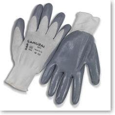 Luvas de nylon + nitrilo. Dorso fresco e punho elástico. Tamanho: 7 a 10.