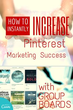 How to Instantly Increase Your Business Pinterest Marketing Success With Group Boards Read more at http://www.business2community.com/pinterest/instantly-increase-business-pinterest-marketing-success-group-boards-0851510#VbLOcZo26SWOoRp8.99