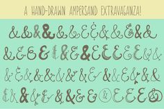 hand-drawn ampersand extravaganza
