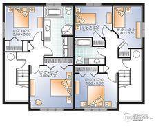 Multi family plan W3062 detail from DrummondHousePlans.com