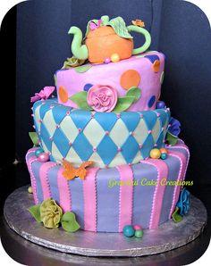 Alice in Wonderland Birthday Cake by Graceful Cake Creations, via Flickr
