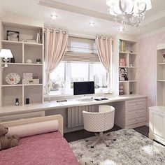 35 Recreate Modern Cozy Living Room Decor Ideas These trendy Home Decor ideas would gain you amazing compliments. Check out our gallery for more ideas these are trendy this year. Cute Bedroom Ideas, Cute Room Decor, Girl Bedroom Designs, Girls Bedroom, Trendy Bedroom, Wall Decor, Home Office Design, Home Office Decor, Office Ideas