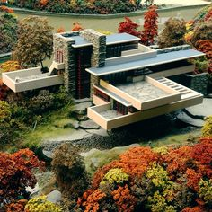 #Fallingwater or Kaufmann Residence is a house designed by #architect Frank #Lloyd #Wright in 1935 in rural southwestern #Pennsylvania.
