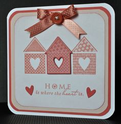 Inky Fingers: Cricut New home canvas and Papertrey Ink card - Inky Fingers: Cricut New home canvas and Papertrey Ink card - Cool Cards, Diy Cards, Quick Cards, Kirigami, Housewarming Card, New Home Cards, Cricut Cards, Card Making Inspiration, Scrapbook Cards
