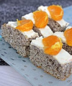 Narancsos, mascarpone krémes mákos szelet - Főzni jó sütni még jobb