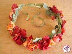 Coroa de Flores Artificiais Regulável.