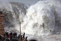 gigantic waves nazare portugal | Plumber surfs 'biggest wave ever' in Nazare, Portugal