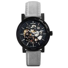 2c2a9aefef7 A photo of a Black mechanical watch from our Black skeleton watches. https