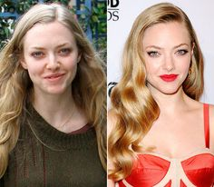 Amanda Seyfried  On left: walking in Hollywood on Apr. 24, 2012  On right: attending the 16th Annual Hollywood Film Awards Gala in Beverly Hills on Oct. 22, 2012
