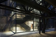 Steam Blower House / Heinrich Böll Architect  Great rehab on an old building.  I love these stairs