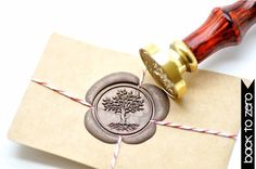 Tree of Life B20 Gold Plated Wax Seal Stamp x 1 by BacktoZero on Etsy