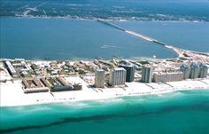 Navarre Beach, Florida I can see the condo we're staying in in this picture! can't wait to go! :)