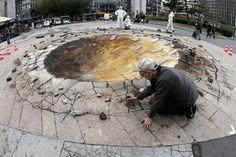 Pavement Art - Crater