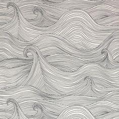 Zentangle wave upon wave Art And Illustration, Book Illustrations, Textures Patterns, Print Patterns, Doodle Drawing, Zen Doodle, Zentangle Patterns, Zentangles, Art Graphique