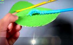Как сделать живую гусеницу из коктейльных трубочек