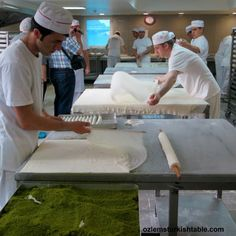 Hundred years of tradition; baklava masters, ustas, perfecting their art.