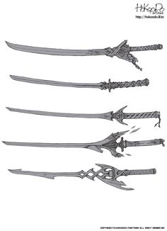 a few sword designs I came across when looking for weapons. these weapons look fast and swift to use due to It's lighter weighed design.