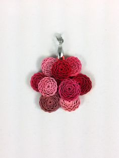 Paper Quilled Peony Flower Pendant - paper quilling pendant, paper quilled jewelry, Mothers Day gift, gift for her, anniversary gift for her