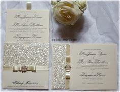 paperlicious oasis: Cream Wallet Invitations #weddinginvitations #creamwalletinvitations #paperliciousoasis