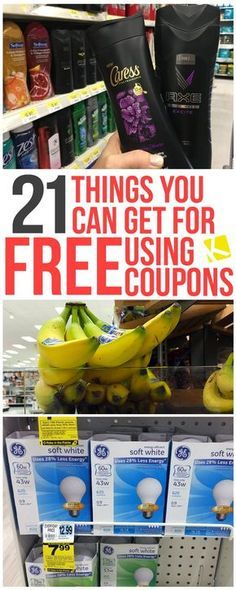 23 Things You Can Get for Free Using Coupons - Want to start extreme couponing? You'll be hooked — especially when you discover how to get free coupons and all the products you can get for cheap or free with coupons. Couponing For Beginners, Couponing 101, Extreme Couponing, Ways To Save Money, Money Tips, Money Saving Tips, Money Savers, Money Hacks, Grocery Coupons