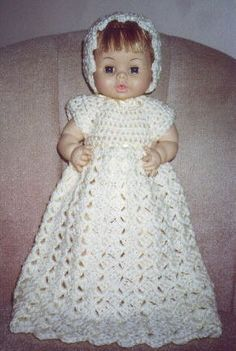 Crocheted Burial Gown