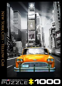 New York City - Yellow Cab - 1000 Piece Jigsaw Puzzle